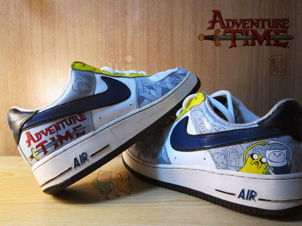cheap for discount 67858 13165 Adventure Time custom Nike Sneakers by haleOfuji.deviantart.com on   deviantART