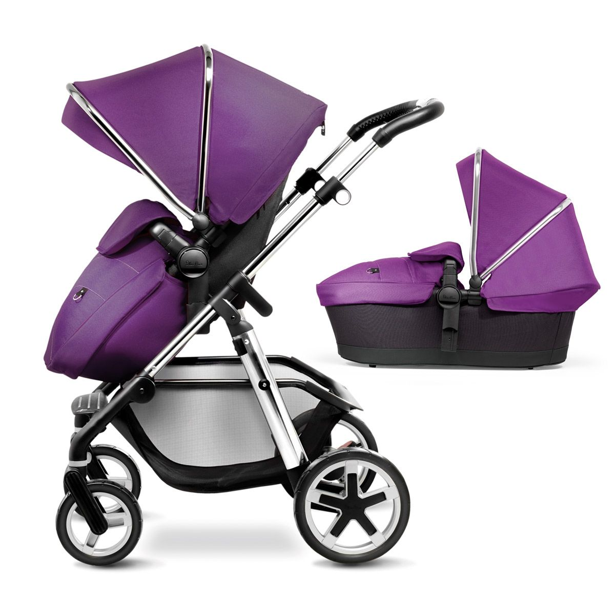 Damson Purple Pioneer Pram, Pushchair and Travel System