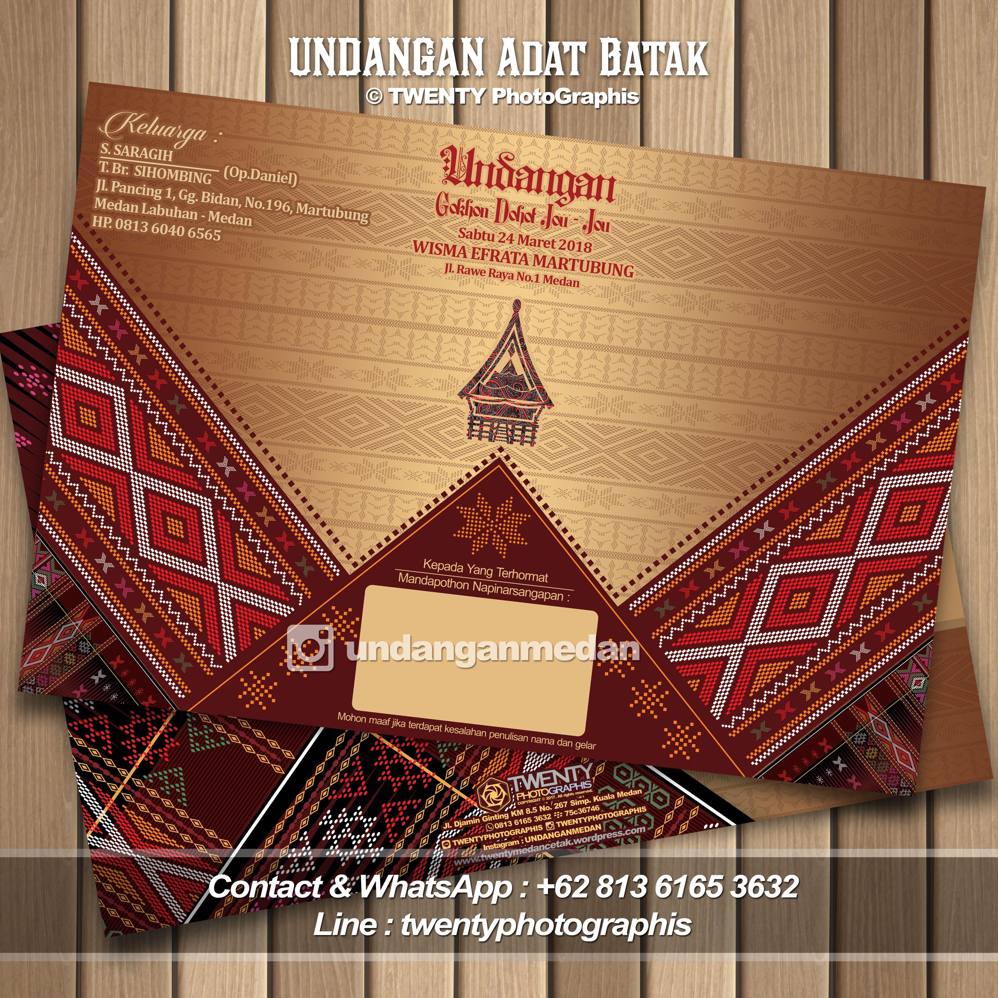 Undangan Medan Undangan Adat Batak Undangan Batak Medan Undangan Batak Jakarta Undangan