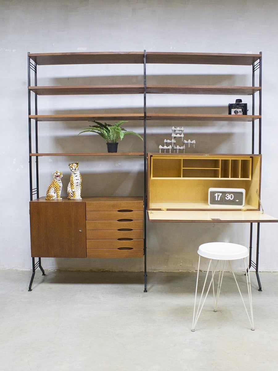 Betere Vintage design wall unit modulair wandsysteem wandkast KY-11