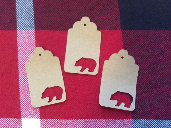Die Cut Bear Tag by NatureCuts on Etsy