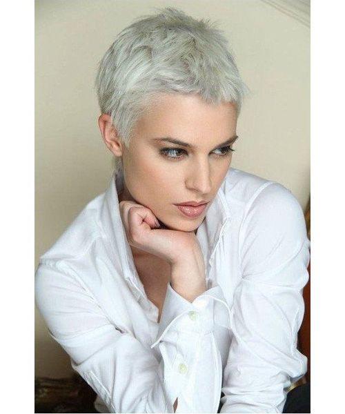 Platinum Blonde Short Pixie Haircuts 2016 Hairstyles