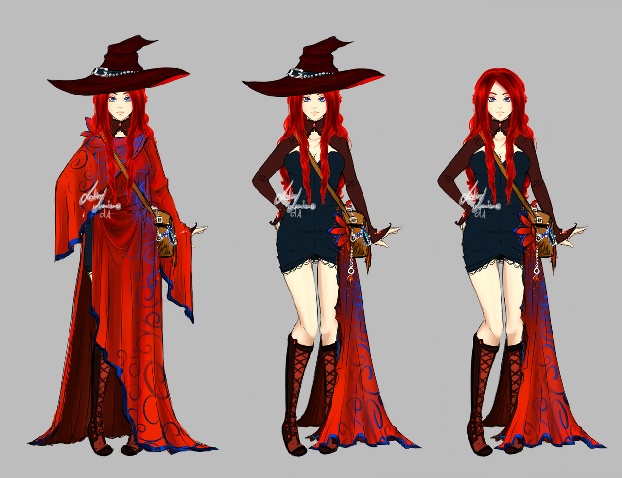 Nafiz - Fire sorceress by LotusLumino female witch wizard warlock ...