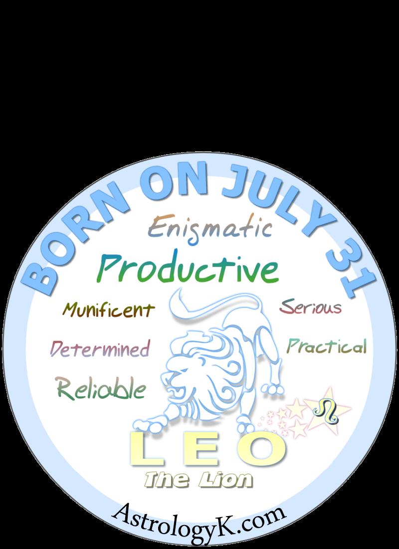 July 31 birthday horoscope