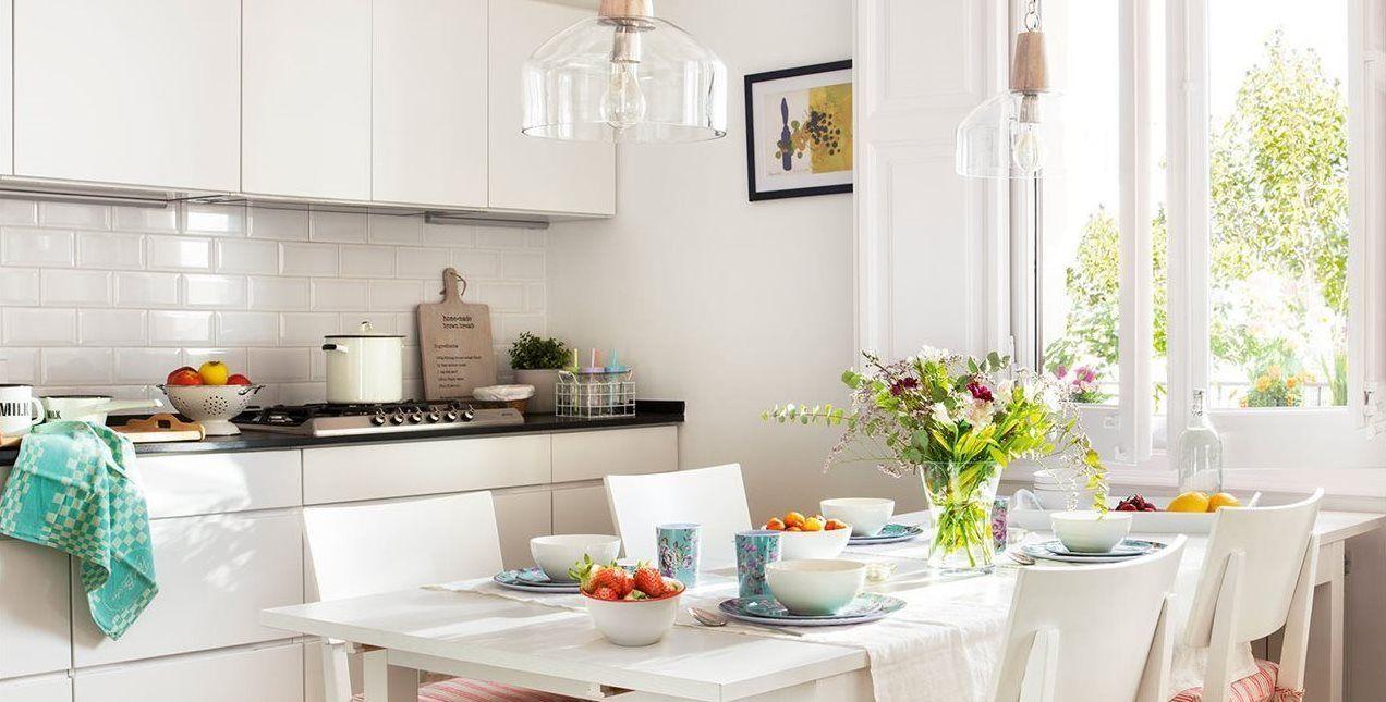 Consigue una cocina más luminosa con puertas de cristal, azulejos ...
