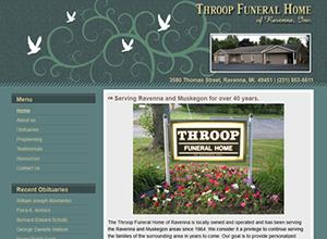 Throop Funeral Home Ravenna Portfolio Web Design Portfolio