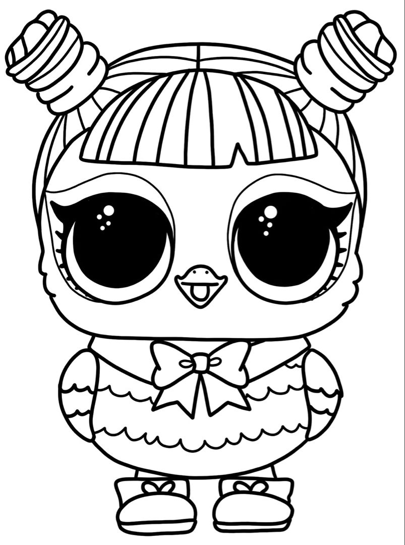 LOL Dolls pets coloring pages | Lol dolls, Cute coloring ...