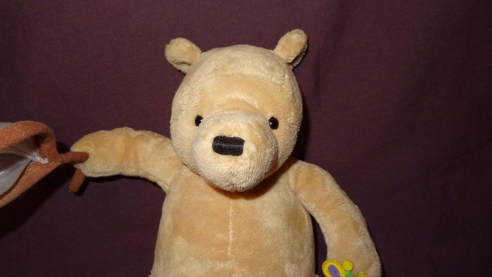 "Winnie The Pooh Disney Plush Stuffed Animal 8"" Music Box Butterfly Net Lullaby  #Disney"