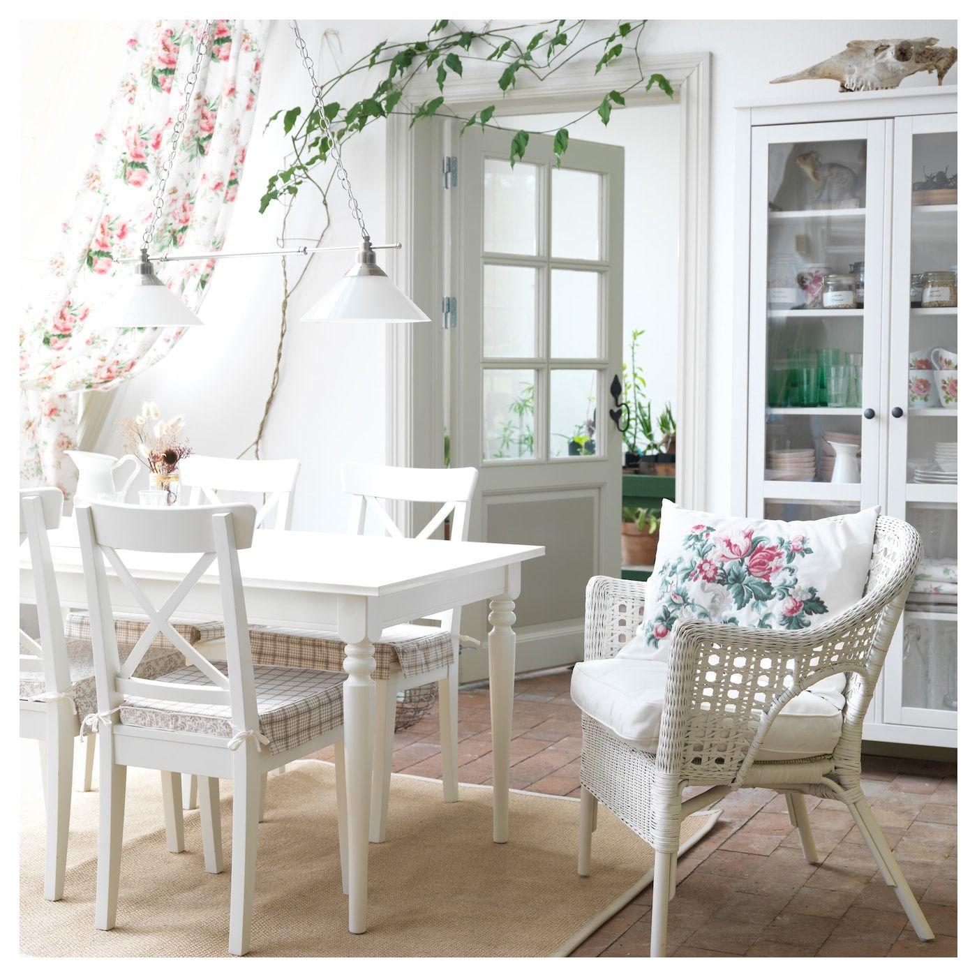 Ikea Ingatorp White Extendable Table Ikea Dining Ikea Dining