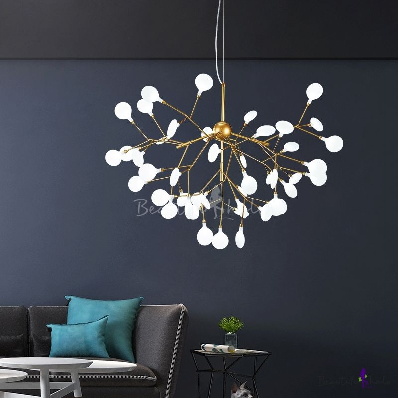 Home Decoration Height Adjustable Heracleum Ii Led Chandelier 9 27 36 45 54 Light High Ou Living Room Lighting Living Room Restaurant Living Room Pendant Light