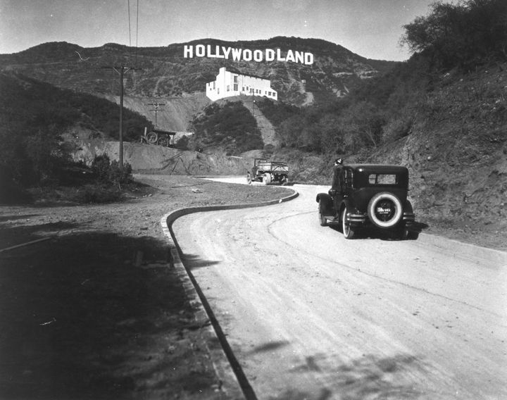 Historic Photograph of Hollywoodland Sign