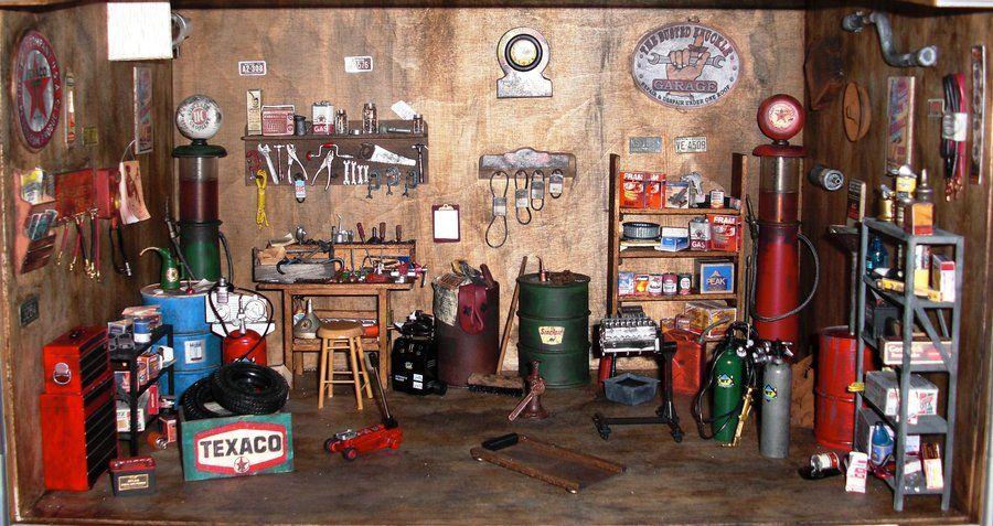 Old Garage Dollhouse By Rowdybiker Old Garage Doll House Garage