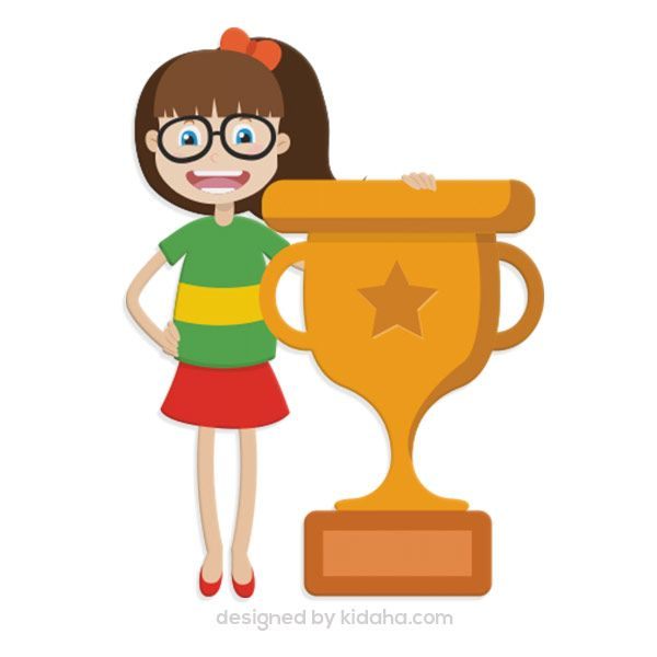 Free Girl Trophy Clip Arts For Kids Parents And Teachers Download Clipart