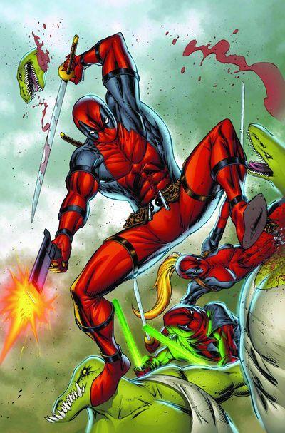 "#Deadpool #Fan #Art. (Deadpool Corps. ""The Blue Buccaneer!"" Vol.1#6 ""Textless"" Cover) By: Rob Liefeld. ÅWESOMENESS!!!™ ÅÅÅ+"