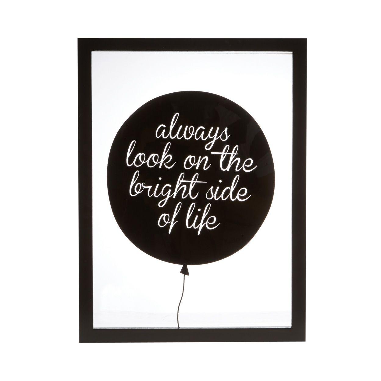 Black balloon slogan wall art at ausdrucken