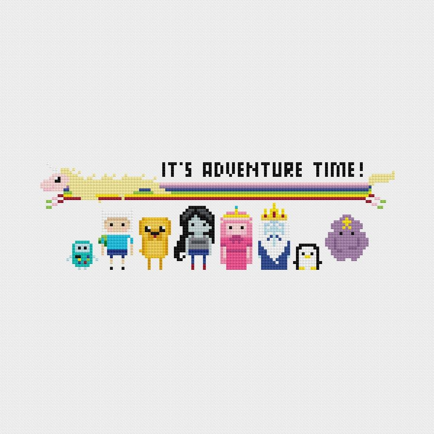 Adventure Time Cross Stitch Pattern PDF Instant Download | Punto de ...
