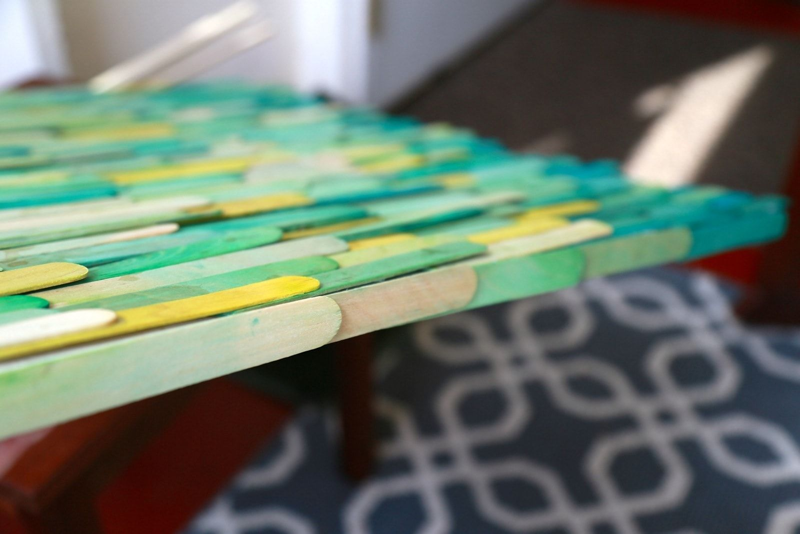 Easy popsicle stick art avec images peinture acrylique