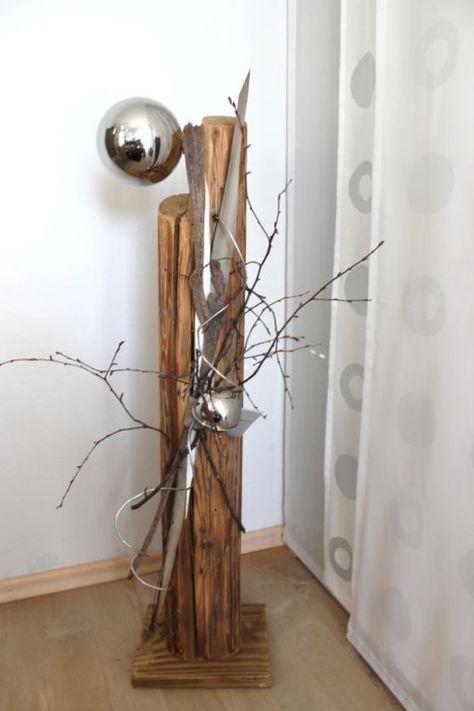 Gs06 Dekosaule Fur Innen Und Aussen Saule Aus Altem Holz