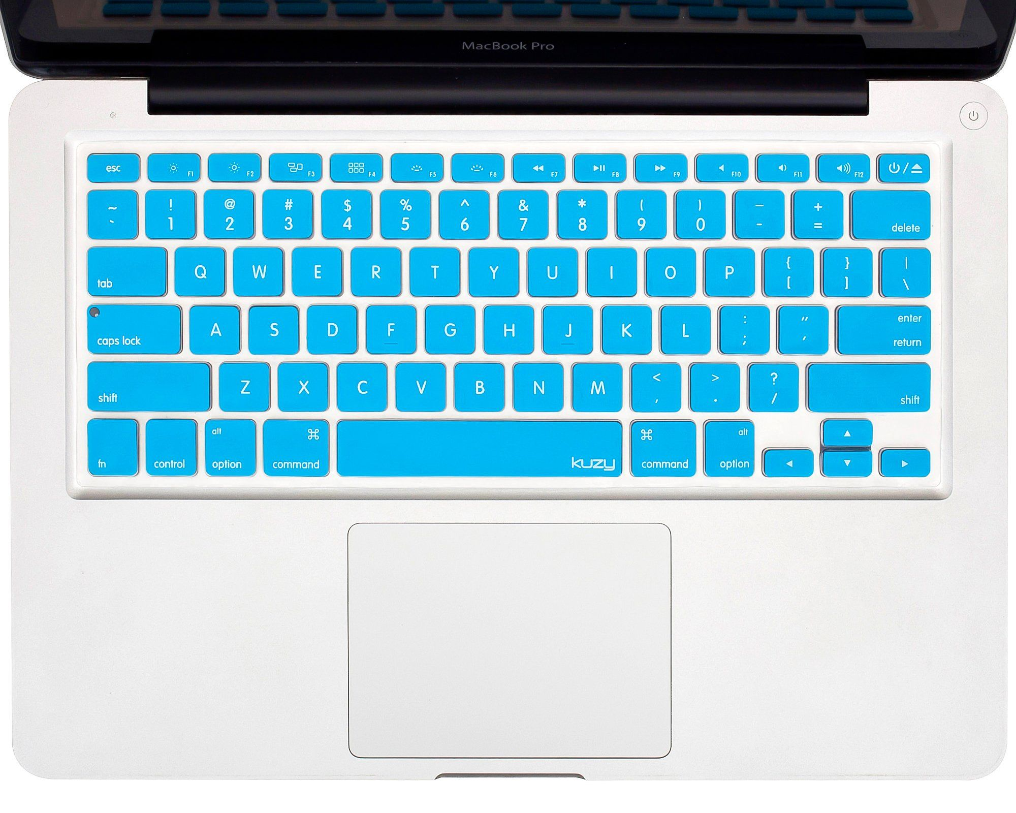 Amazon Com Kuzy Aqua Blue Keyboard Cover Silicone Skin For
