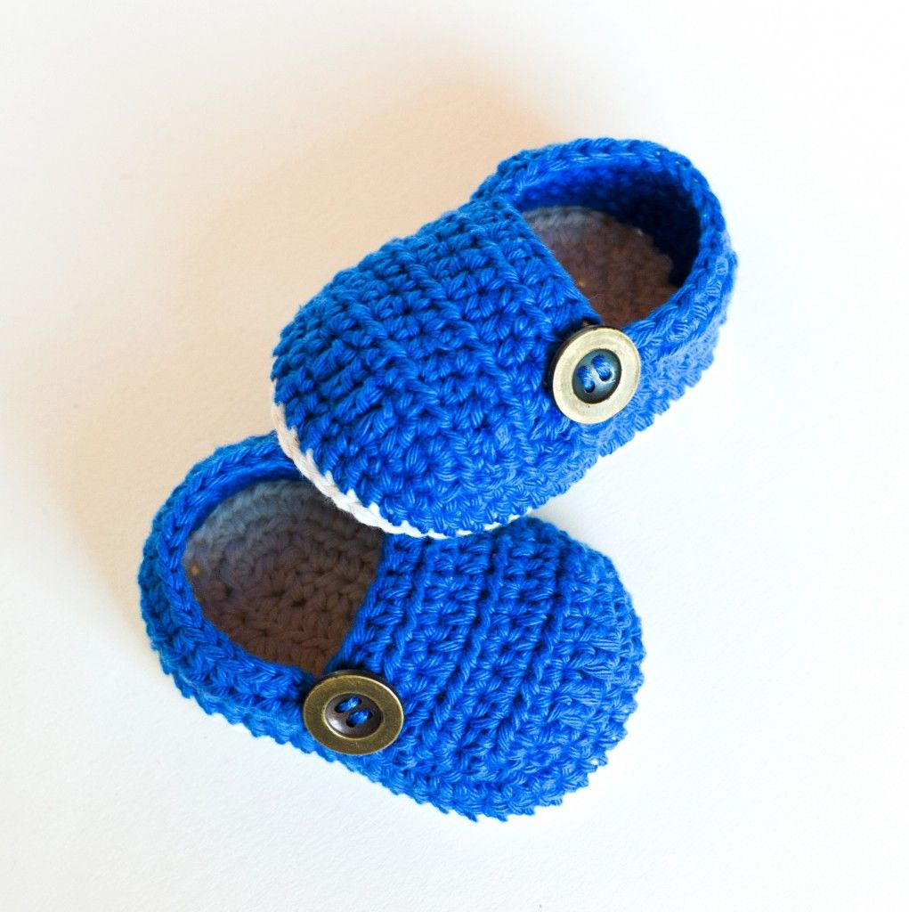 Croby Patterns | Crochet Baby Booties – GRANDPA SLIPPERS | breien en ...