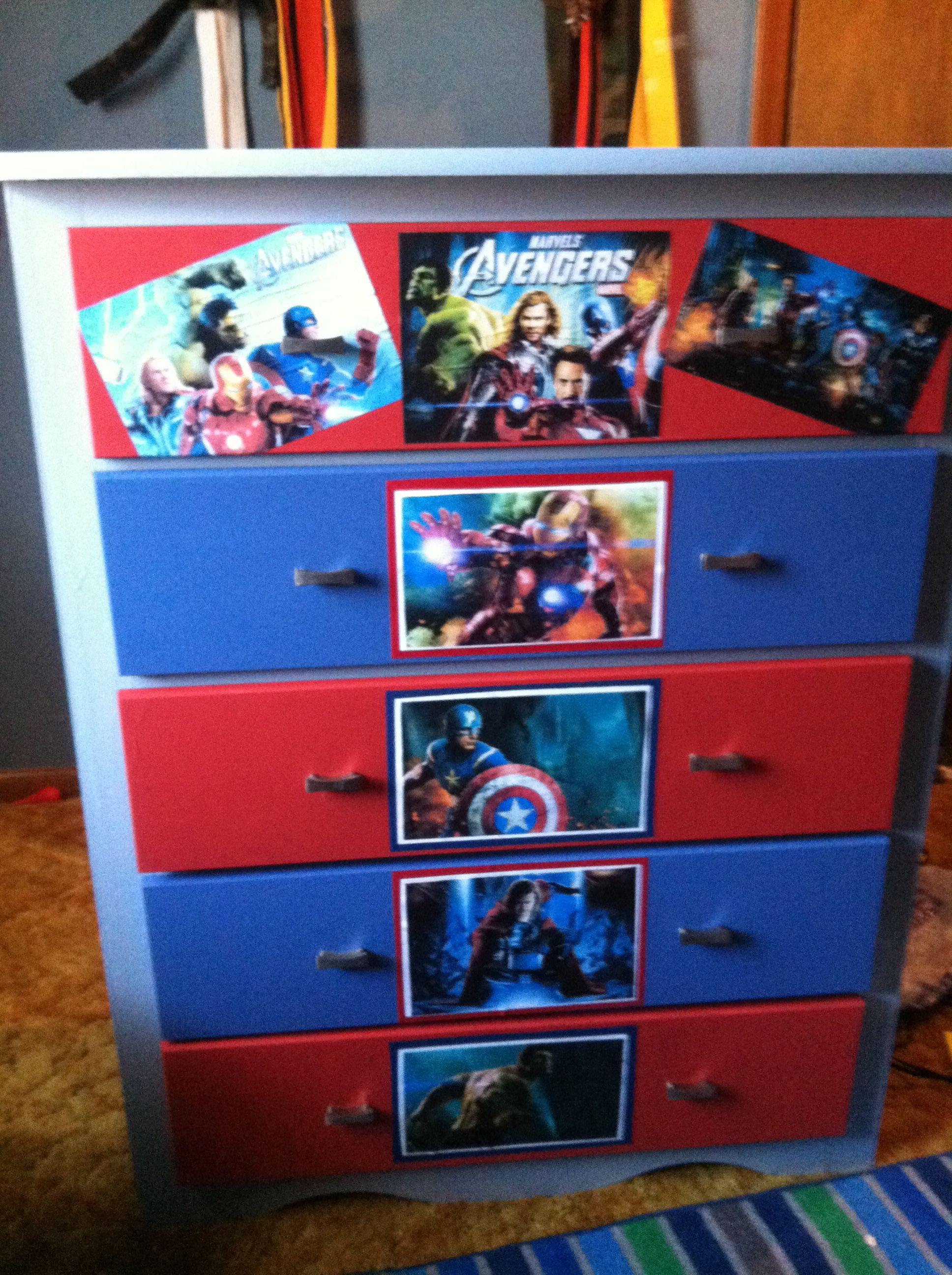 Avengers dresser kid 39 s room ideas pinterest superhero room bedroom ideas and dressers - Avengers bedroom ...