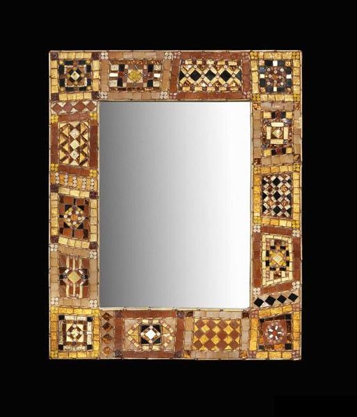 Specchio bronzo da tavolo o cornice Realizzato in vetri