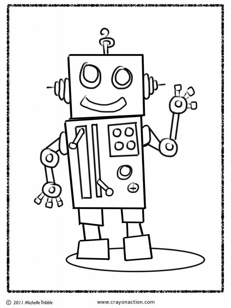 Robot Coloring Page | Class of 2017 | Pinterest | Fiestas cumpleaños ...