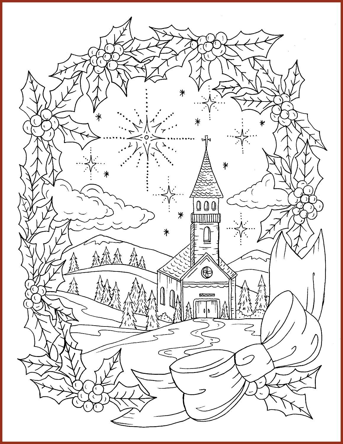 Adult coloring Christian Christmas coloring page instant ...