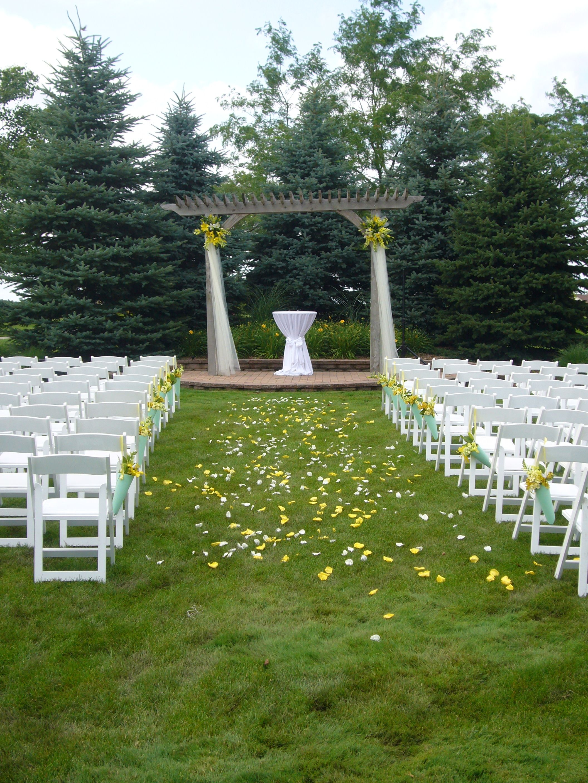 simple outdoor wedding