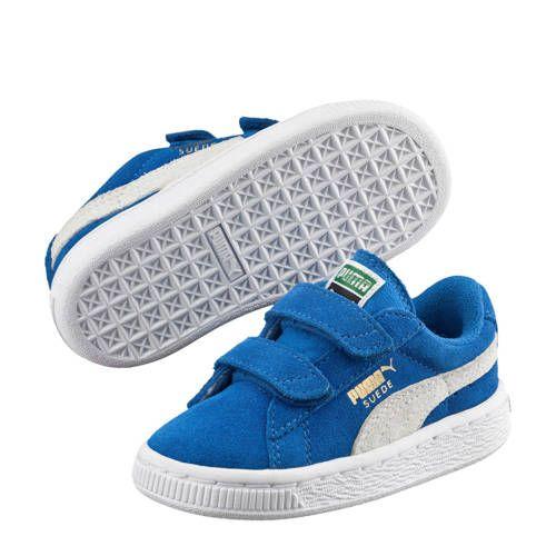 Puma Suède 2 Straps Infant sneakers blauw - Blauw en Nieuwe mode