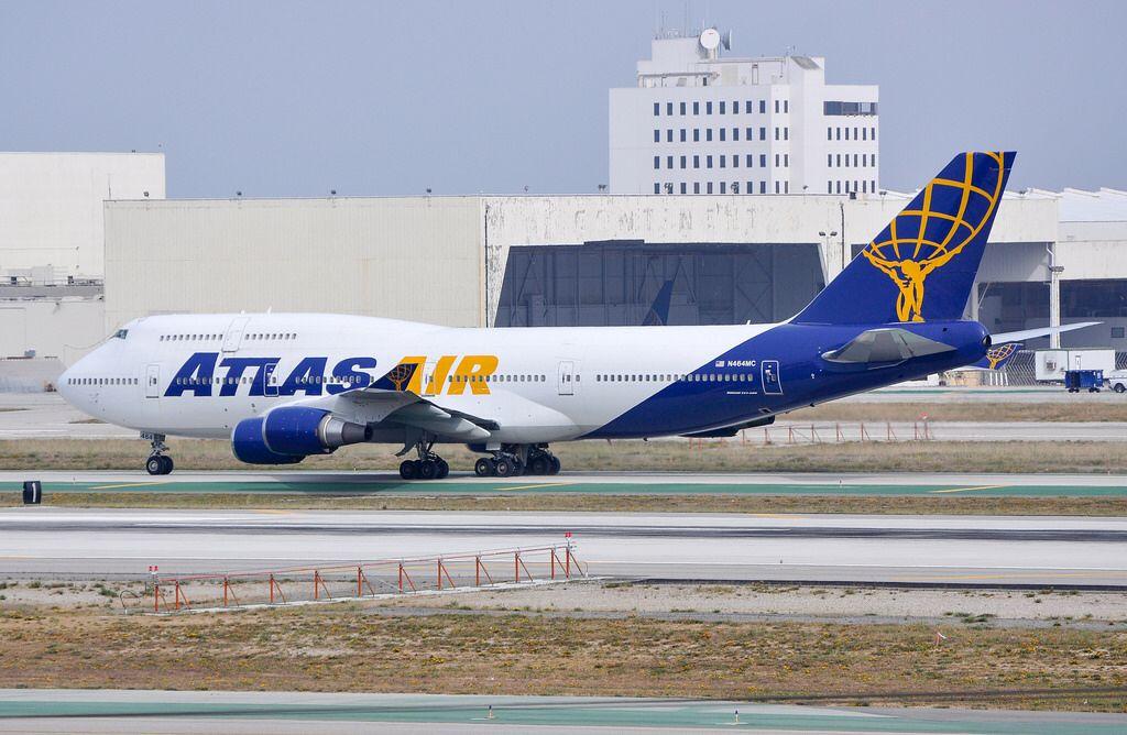 Atlas Air 747446 arriving at LAX_20130407 Atlas air