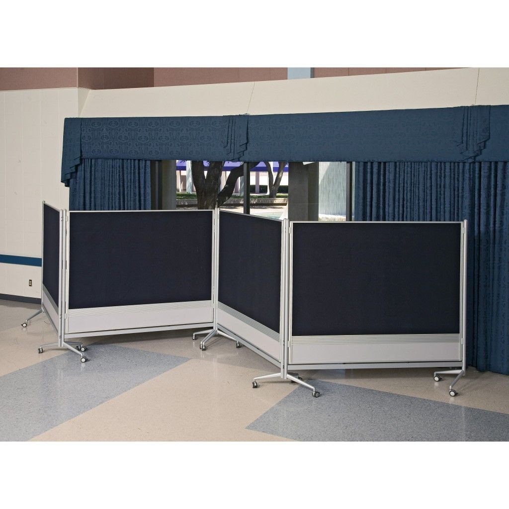 Page not found screenflex portable room iders - Interior Black And White Room Divider With Four Panels And Wheels On The Floor Connected By