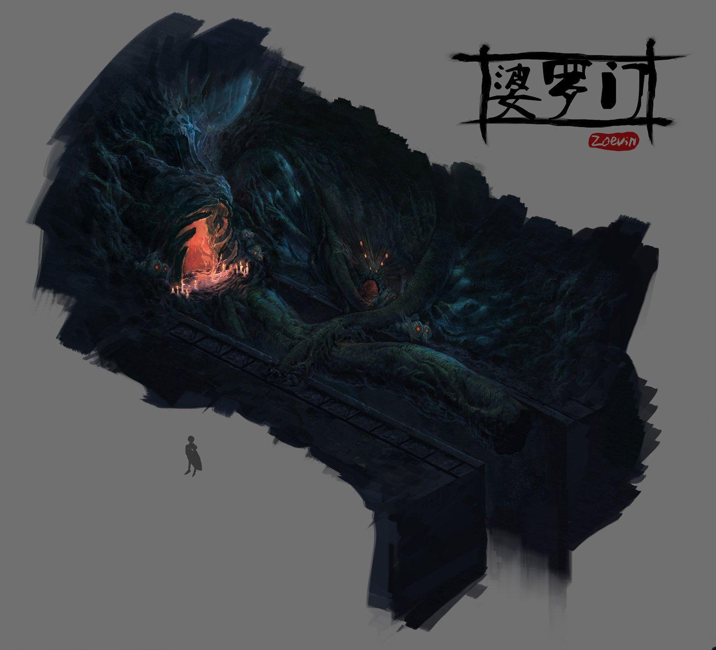 dungeon, Z PZ on ArtStation at https://www.artstation.com/artwork/A99Jz