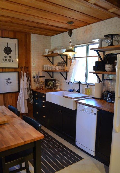 MY LOG CABIN KITCHEN RENOVATION | Log cabin kitchens, Small ...