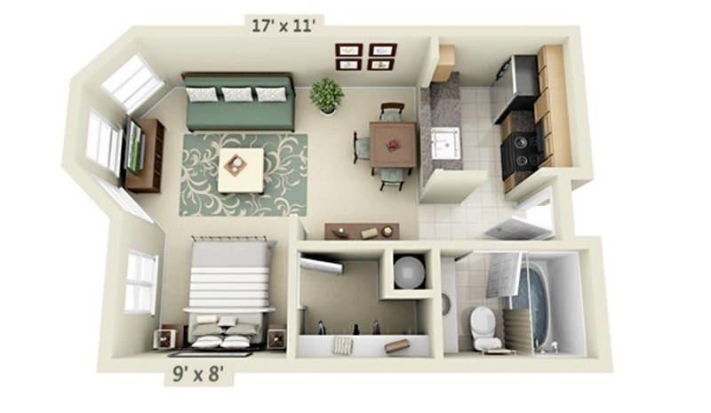 20 Plantas incríveis de apartamentos para Solteiros Planos