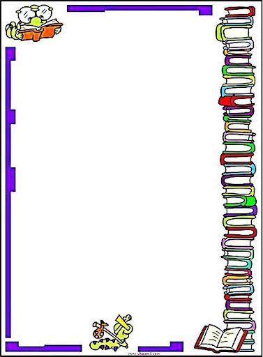 Bordas Com Desenhos De Livros Pesquisa Google Quadro Escolar