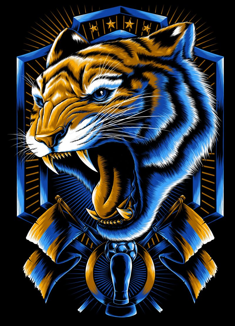 Incomparables X Tigres Uanl On Behance Sejarah Seni Lukisan Hewan Binatang Buas
