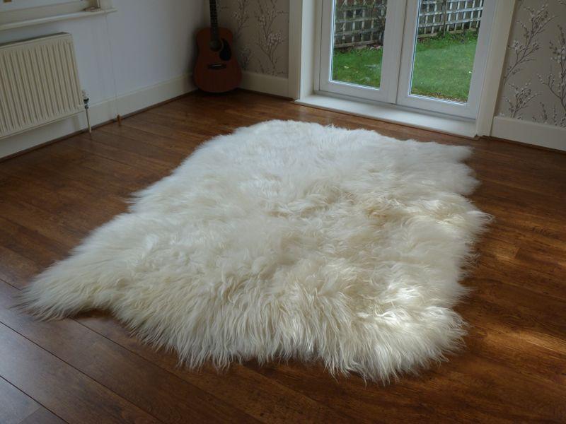 Icelandic Sheepskin Rug 4 Skin Large sheepskin rug