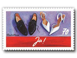 """Bild Briefmarke """"Dauerserie Schreibanlässe - Hochzeit"""", 70 ct"""