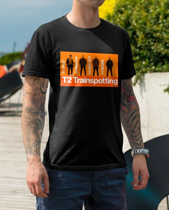 Men/'s T-shirt Trainspotting BEGBIE Welsh Renton Sick Boy Spud no happinness