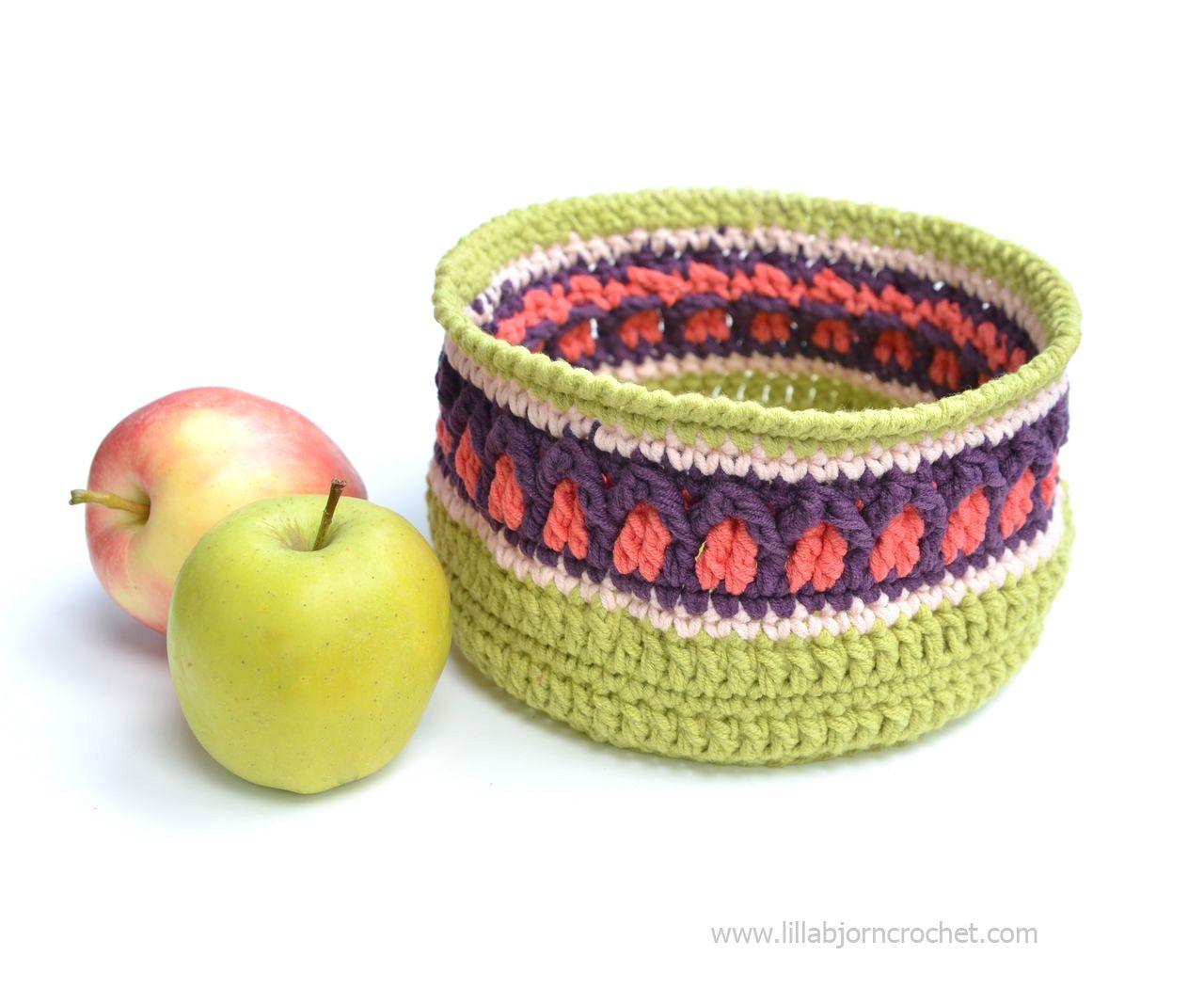 Fall Apple Basket. Free crochet pattern - by Lilla Bjorn Crochet ...