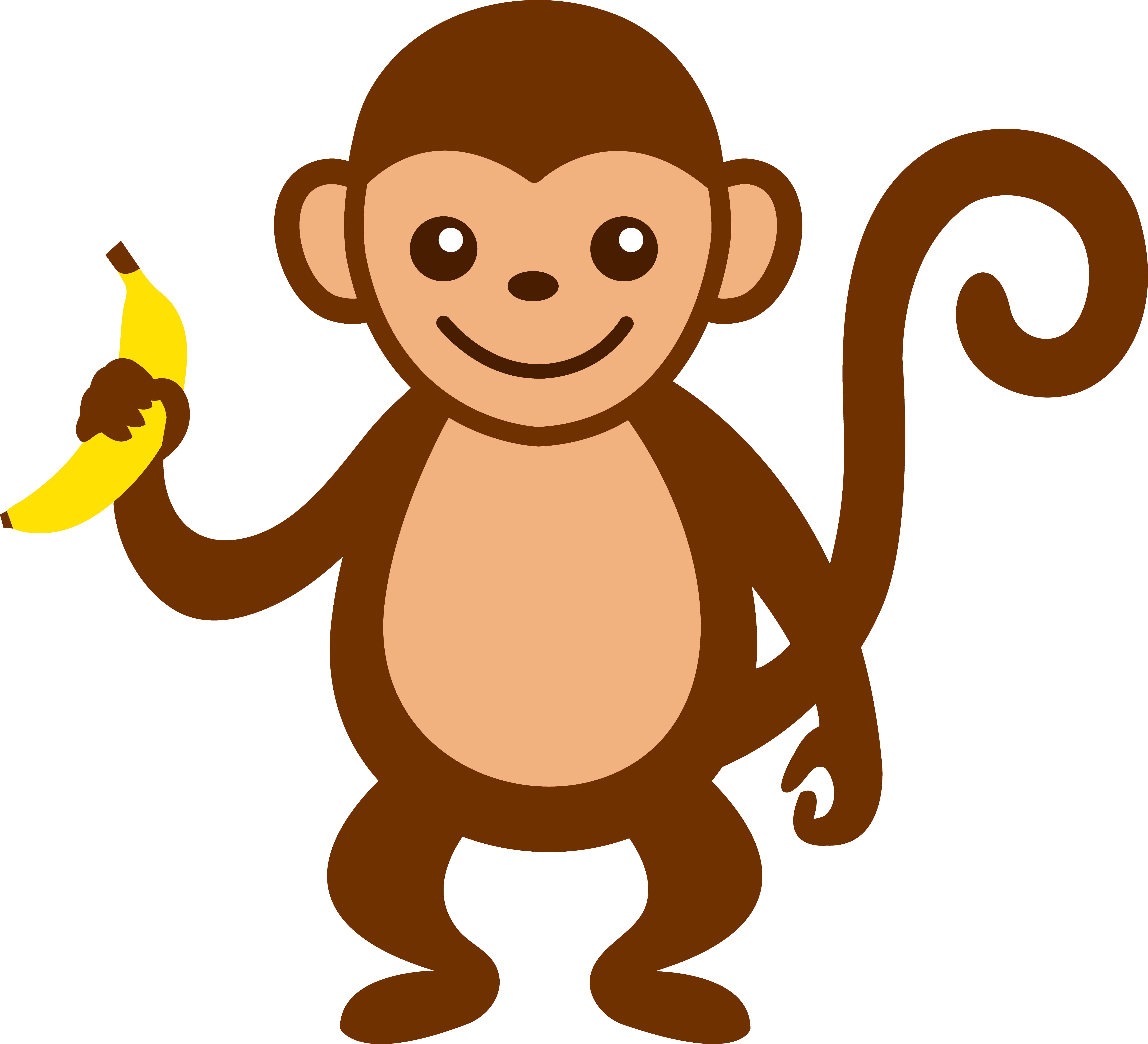 cartoon monkey clip art cute monkey with banana free clip art rh pinterest com