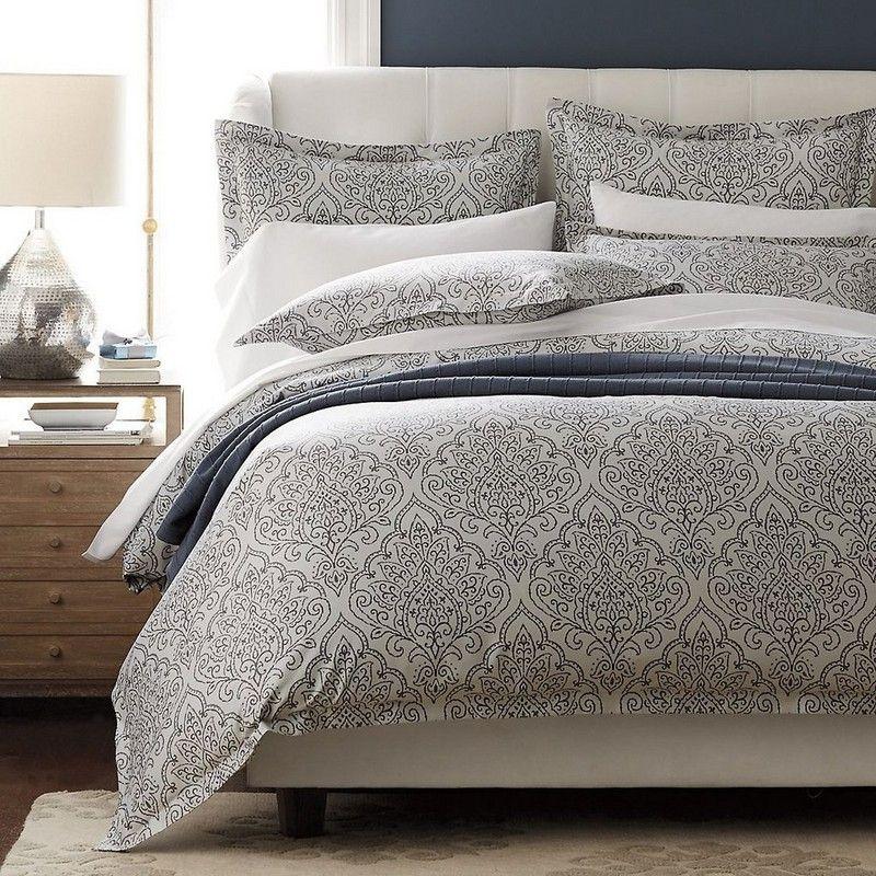 Martha Stewart Carved Dahlia Full Queen Quilt Comforter Silver Grey