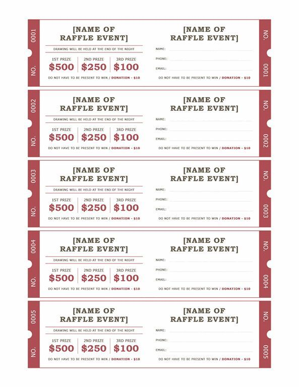 raffle ticket format raffle tickets templates office com