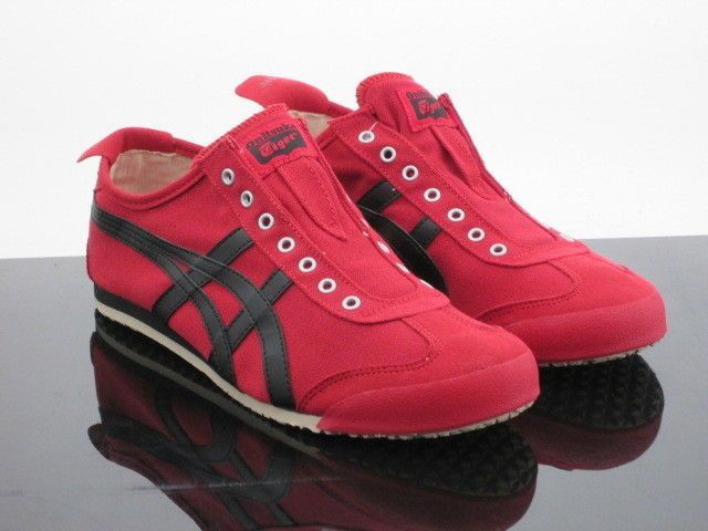 low priced 34a29 58b8a Asics Onitsuka Tiger Men Mexico 66 Slip On (red / black ...