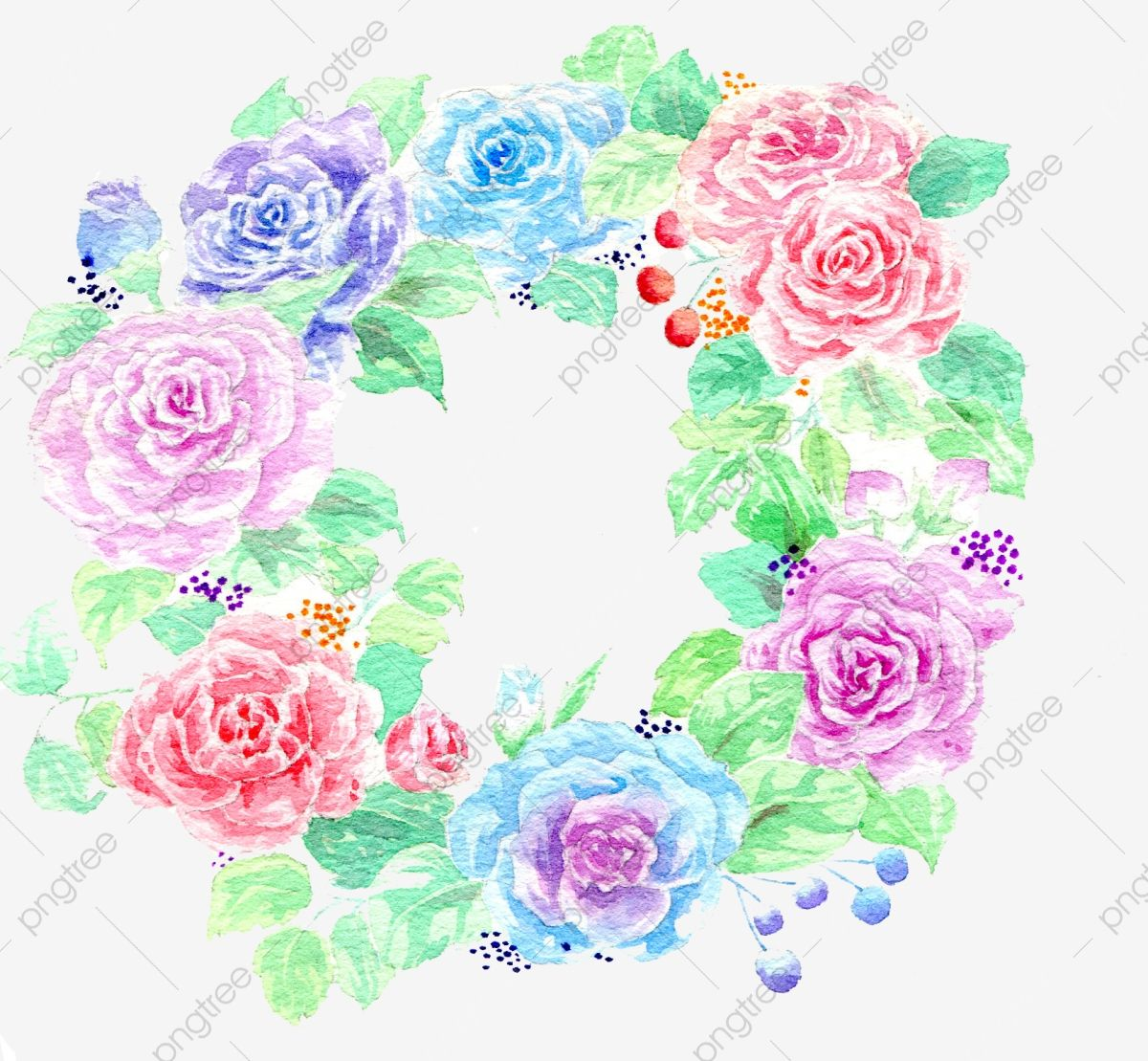 Photo of Garlands Of Flowers, Wreath, Flowers PNG Transparent Clipart Image and PSD File for Free Download