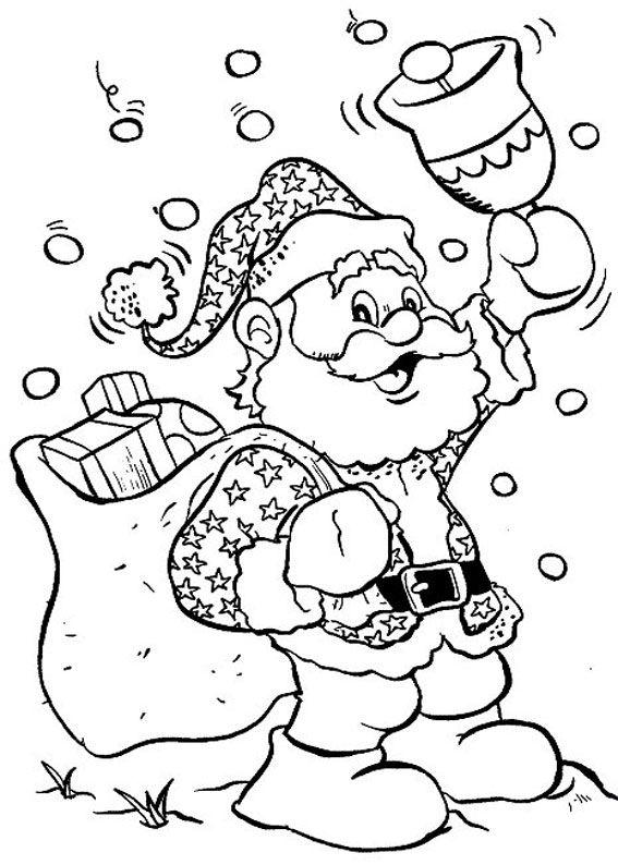 60 Disegni Di Babbo Natale Da Colorare Disegni Da Colorare