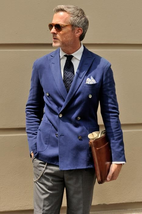 Classic blue and grey.