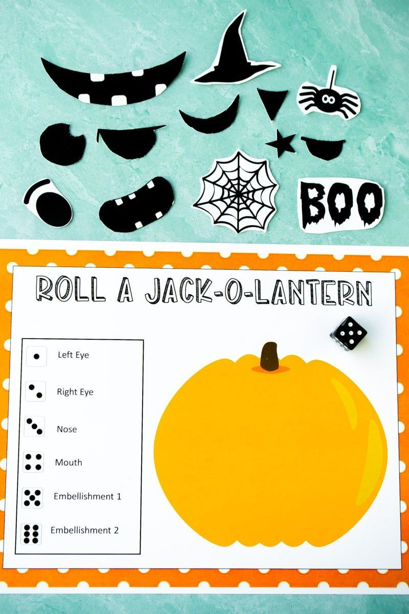 Free Printable Roll A Jack O Lantern Dice Game