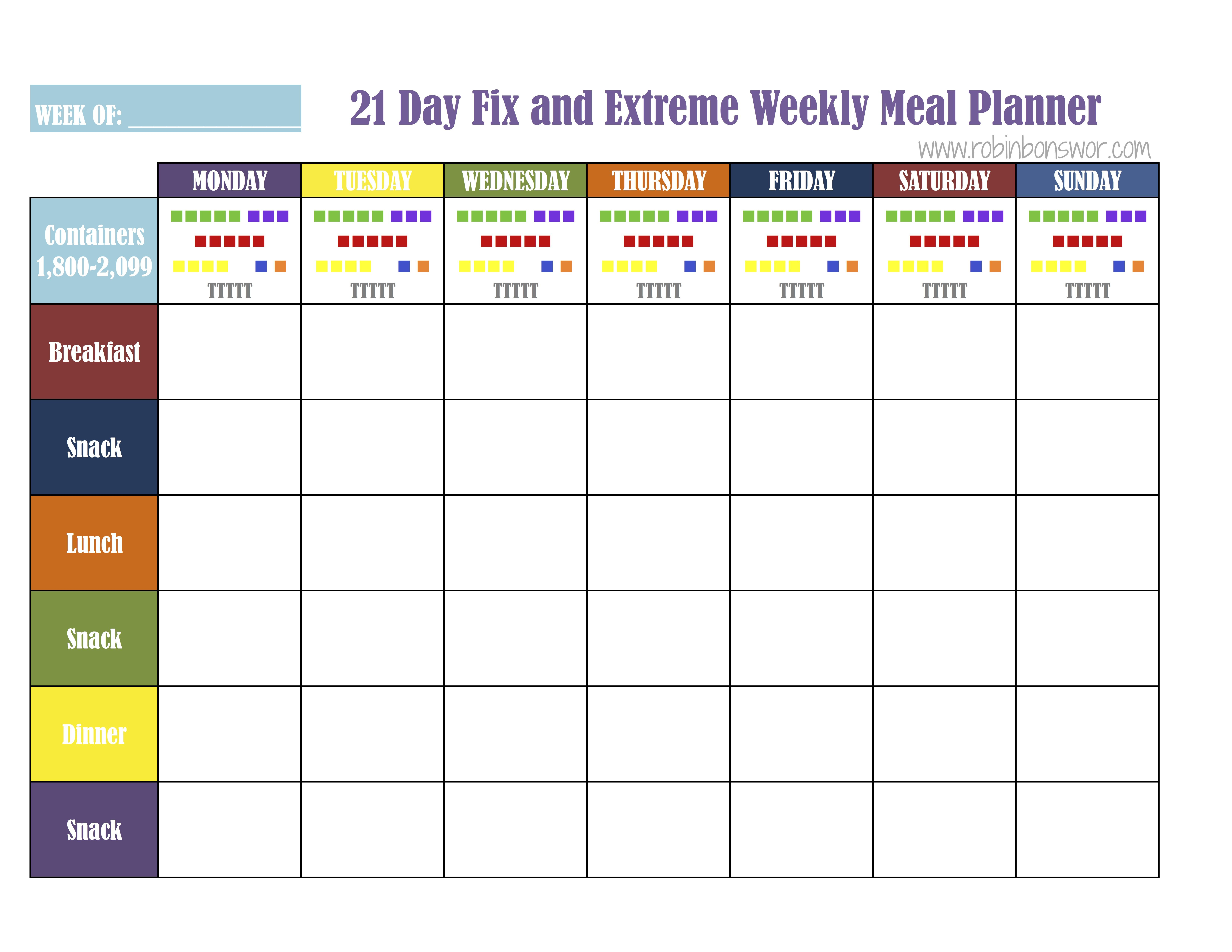 21 Day Fix Meal Plan Tools Get Fit Lose Weight Feel Like You
